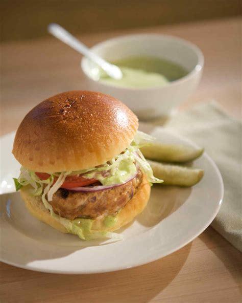 turkey burger recipe martha stewart emeril s turkey burgers with cilantro mayonnaise recipe