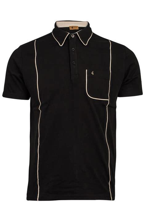 mens gabicci vintage designer sleeved polo shirt