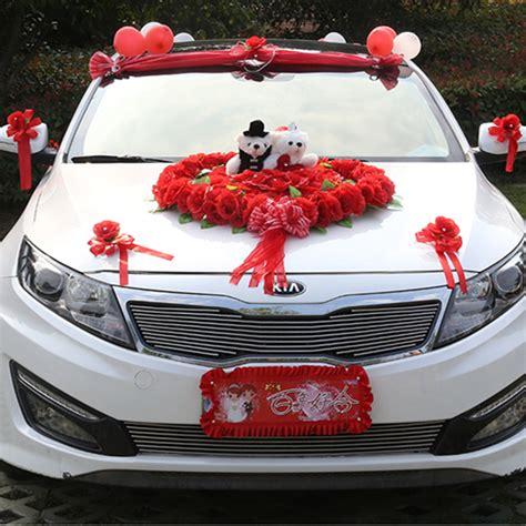 wedding car decoration flower bridal sedan car