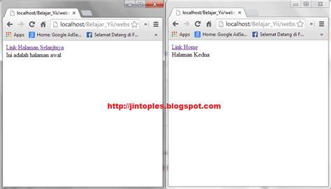 yii chtml tutorial membuat link html di yii framework jin toples programming