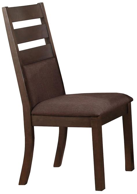 Cushioned Dining Chairs by Winners Only Venice Dv2450s Cushioned Ladder Back Side