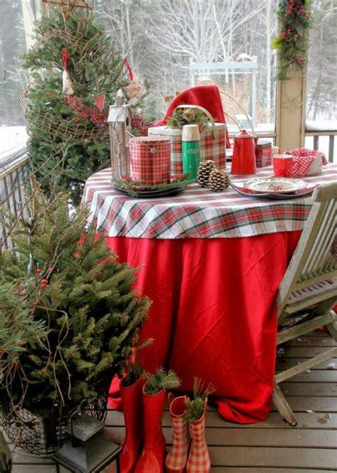 weihnachtsdeko für garten idee balkon bauen