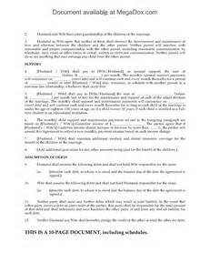 Canadian Separation Agreement Template canada separation agreement legal forms and business