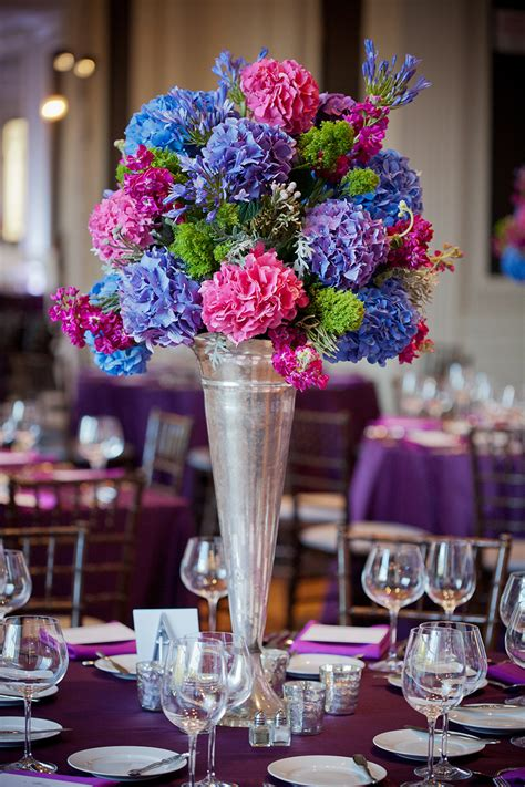 Purple And Blue Wedding Centerpieces To Inspire You Blue Wedding Centerpiece Ideas