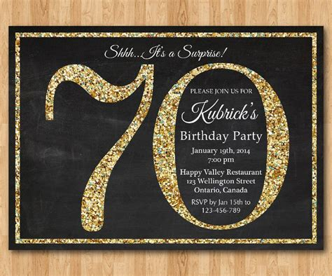 25 best ideas about 70th birthday invitations on