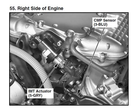 camshaft position sensor location in 2007 honda accord 3 0