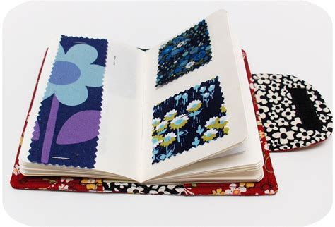 pattern for quilted notebook cover swatch book cover pdf sewing pattern it covers pinterest