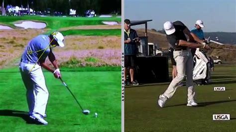 dustin johnson golf swing slow motion swing analysis dustin johnson