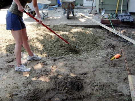 how to make a concrete how to make a stone patio without concrete home outdoor