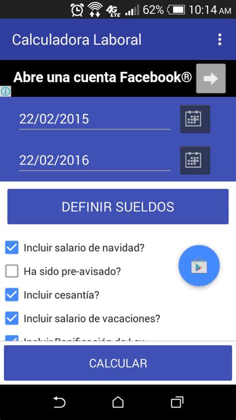 calculadora laboral de mintrabajo calculadora laboral calculadora laboral dominicana aplicaciones android en