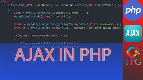 tutorial php ajax php ajax tutorial youtube