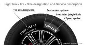 Truck Tire Size Nomenclature Light Speed Symbol