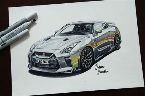 nissan gtr skyline drawing nissan gtr drawing by thomasparker nissan gtr by