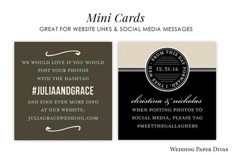 Wedding Hashtag Cards by Social Media And Weddings Planning And A Wedding