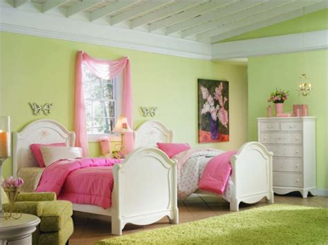 pink green bedroom combine pink and green in the rooms ideas for interior