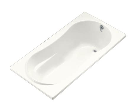 six foot bathtub kohler 6 feet alcove bathtub in white the home depot canada