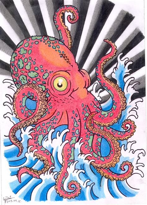 octopus tattoo design by brianjones90 on deviantart