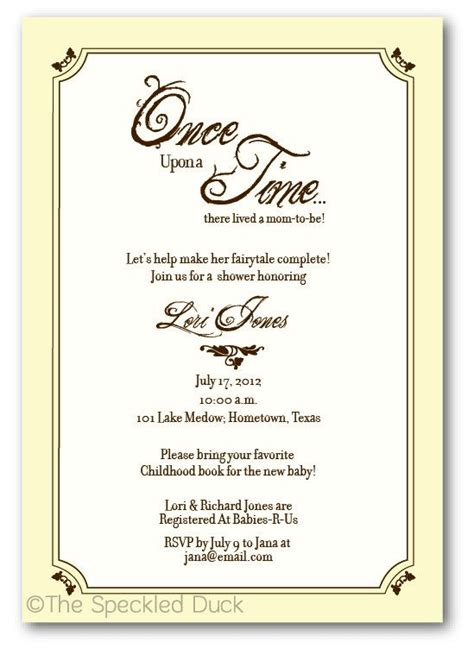 Baby Shower Invitation Templates Once Upon A Time Baby Shower Invitations Easytygermke Com Once Upon A Time Invitation Template