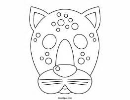 Leopard Mask Template by Printable Leopard Mask