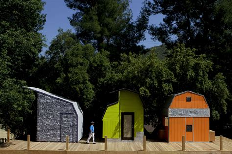 mini modern cabins made from hardware store sheds la times