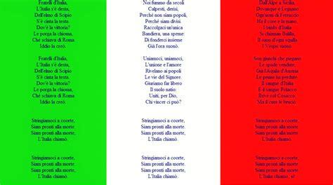 testo dell inno di mameli fratelli d italia l inno di mameli 232 ufficialmente l