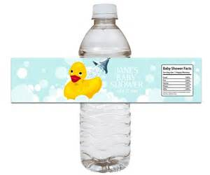 baby shower water bottle rubber ducky baby shower water bottle label set of 12