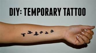 diy temporary tattoo youtube