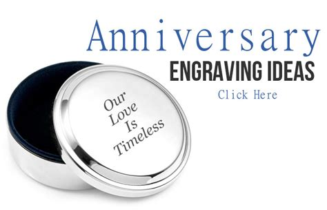 Wedding Anniversary Engraving Ideas custom engraving ideas to help you get inspired
