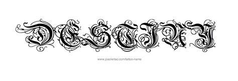 destiny tattoo designs destiny name designs