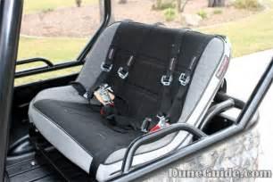 yamaha grizzly rear seat yamaha rhino safety