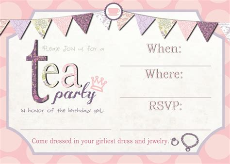 Free Afternoon Tea Invitation Template Reception Invitation Templates Free
