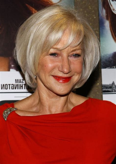 short layered haircuts for women over 60 helen mirren short layered bob hairstyle for women age