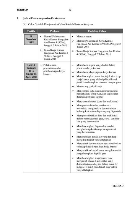 Tema Kerja Kursus Pengajian Am 2016 | manual pelaksanaan kerja kursus pengajian am 900 4 tahun