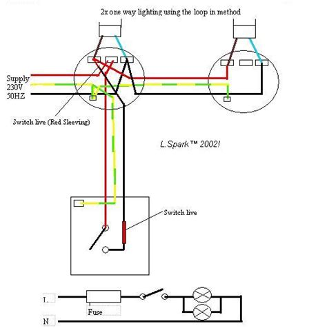 how to wire two lights to one switch diagram uk