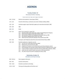 business meeting agenda template 10 business meeting agenda templates free sle