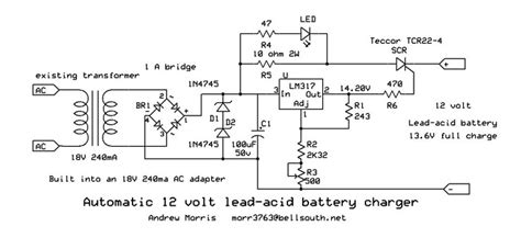 automatic 12v lead acid battery charger automatic 12v lead acid battery charger by andrew r morris