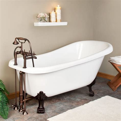 small clawfoot bathtub how to paint clawfoot tub the homy design