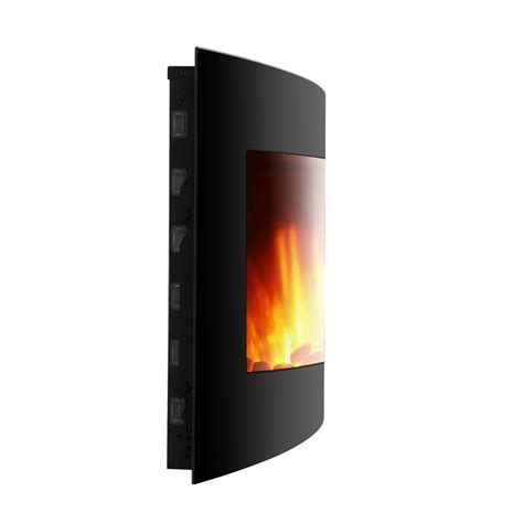 electric wall fireplaces heater wall mount 1500w room adjustable led electric wall mount fireplace heater w remote ebay