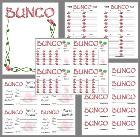 Bunco Printable