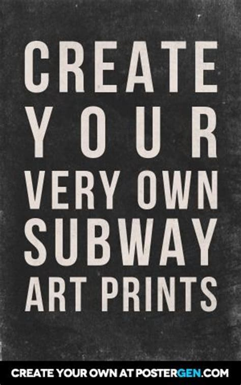 typography poster generator the o jays subway and on