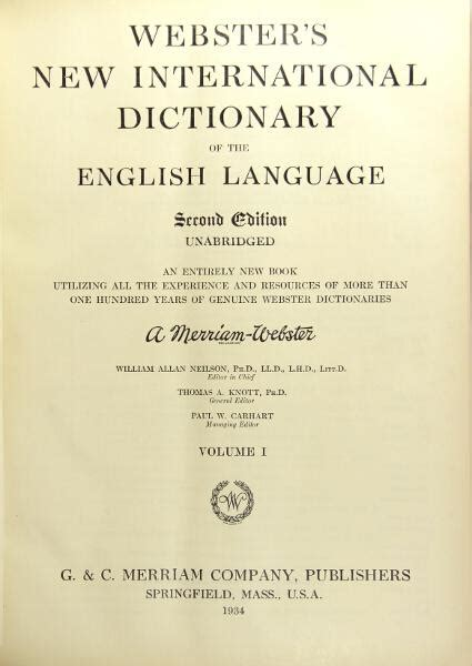 webster s new international dictionary of the language classic reprint books vialibri 504216 books from 1934