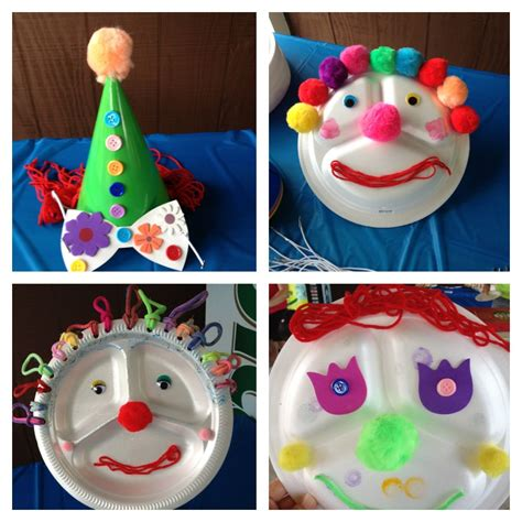 circus crafts for carnival and clown themed crafts for preschoolers