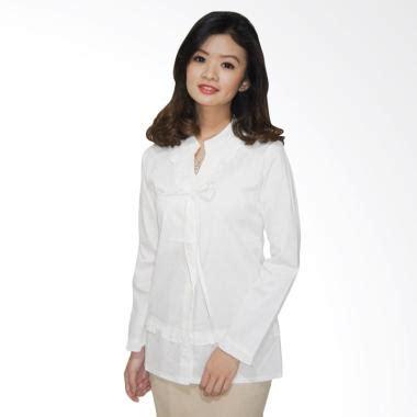 Blouse Yasmina Tunik jual blouse putih lengan panjang wanita terbaru harga