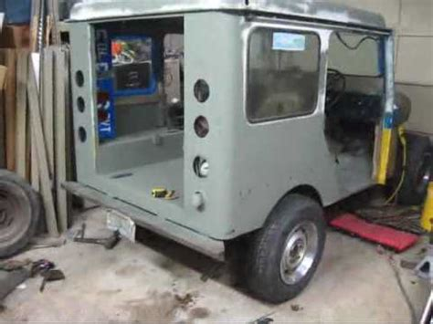 postal jeep conversion dj5 postal jeep project part 6 ford 8 8 axle swap youtube