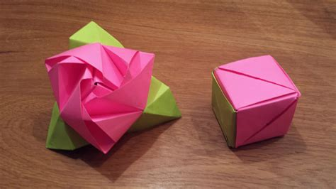 Origami Flower Cube - how to make an origami magic cube valerie vann