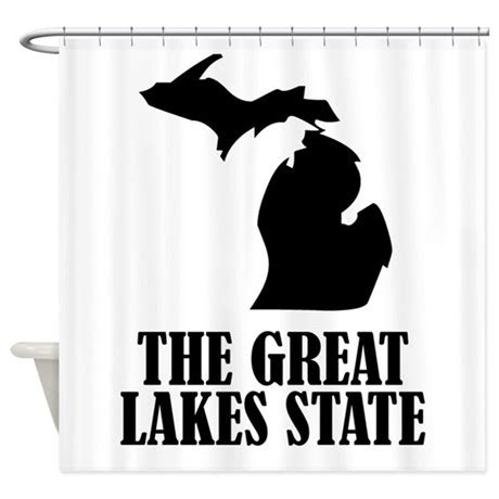 michigan state shower curtain michigan the great lakes state shower curtain by stateshapes