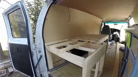 living   van expandable bed  storage vanlife