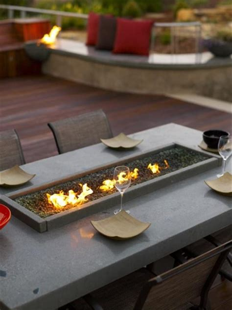 diy pit dining table patio designs with a firepit