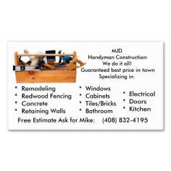 handyman business cards exles 1978 best images about handyman business cards on