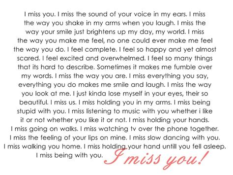 I Miss You Letter For lovely i miss you letters cover letter exles